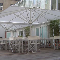 May Schirme für Gastronomen